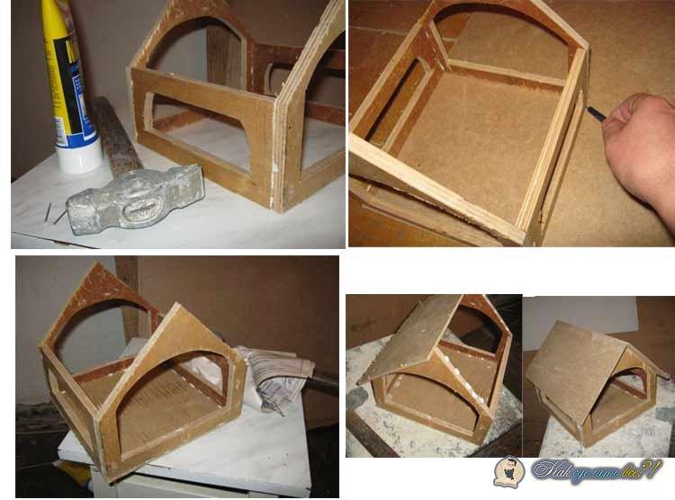 Кормушка для птиц своими руками из коробки фото 692