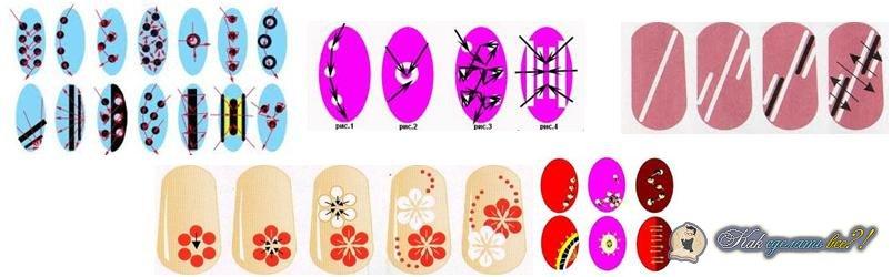 Рисунки на ногтях для начинающих пошаговое в домашних иголкой
