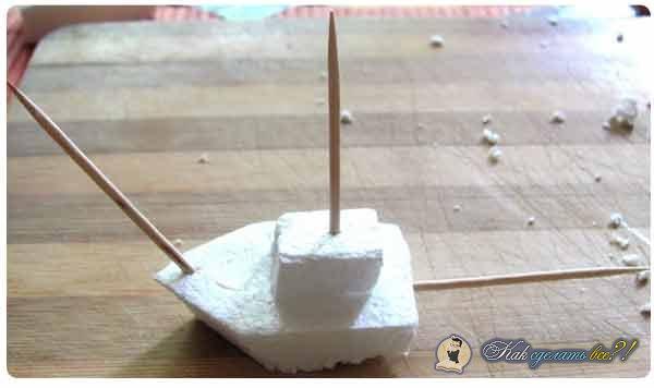 Как сделать корабль из пенопласта своими руками в домашних условиях