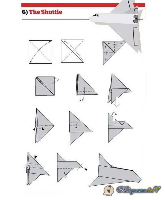 как сделать самолеты из бумаги пошаговая инструкция