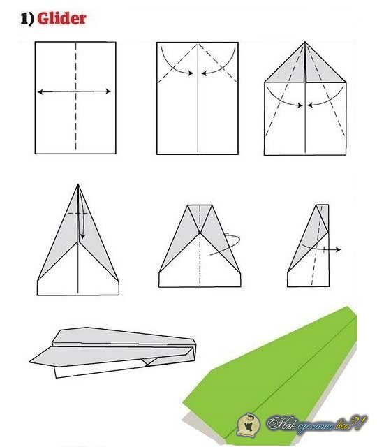 Как сделать самолетик из бумаги который очень долго летает 375