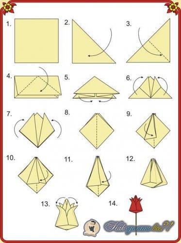 Как сделать тюльпан из бумаги своими руками?