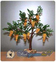 Как сделать дерево из бисера?