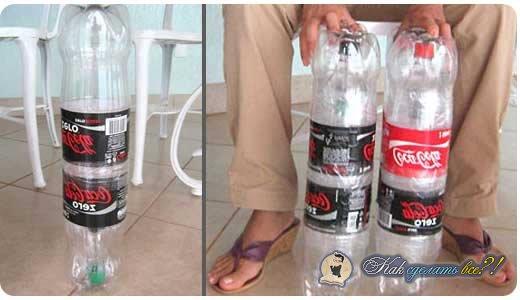 Как сделать из бутылок стул видео
