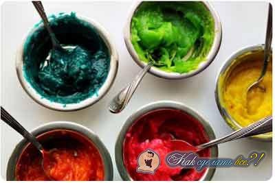 Как сделать съедобные краски?