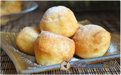 Как сделать творожные пончики?