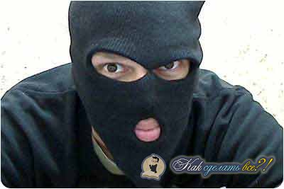 Как сделать из картона маску бандита