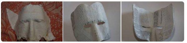 Как сделать маску из папье-маше?
