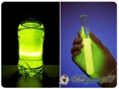 Как сделать светящиеся воду в домашних условиях рецепт