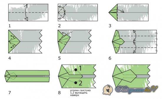 Как сделать рубашку с галстуком с купюры?