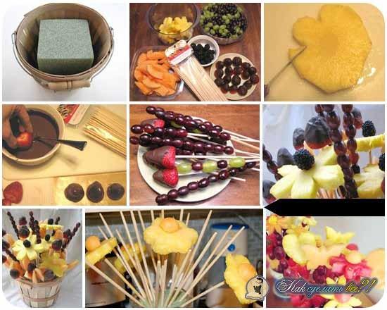 Как сделать из фруктов своими руками