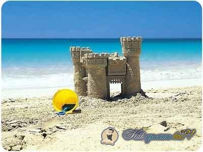 Как сделать пляж из песка на даче 653
