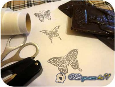 Как сделать шоколадных бабочек?