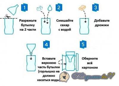 Как сделать ловушку для комаров?