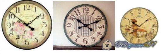 Как сделать винтажные часы?