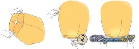 Как сделать небесный фонарик?
