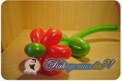 Как сделать цветок из воздушных шаров?