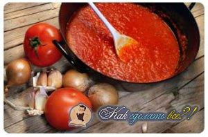 Как сделать соус из томатной пасты?