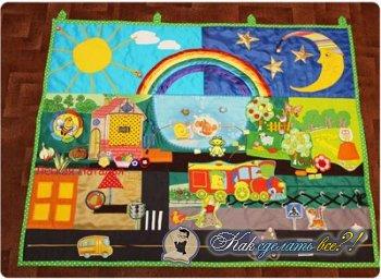 Как сделать развивающий коврик для детей?