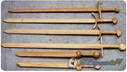 Как сделать из дерева меч инструкция