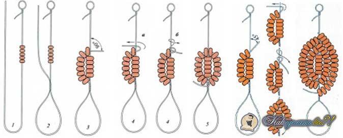 Вот схема плетения: