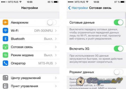Как iPhone сделать модемом?