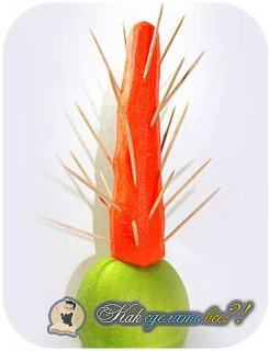 Как сделать новогоднюю ёлку из фруктов?