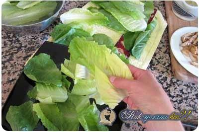 как сделать салат цезарь фото рецепт