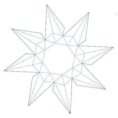схема из бумаги объемный бриллиант