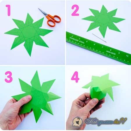 Схемы алмаза из бумаги