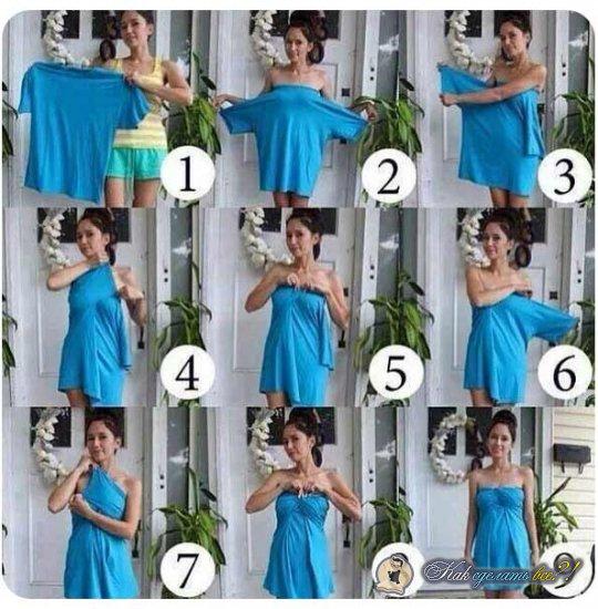 Как сделать женское платье из мужских вещей?