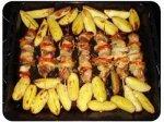 Как сделать куриный шашлык с картошкой?