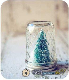 Ёлка в банке, зимний лес под стеклом своими руками.