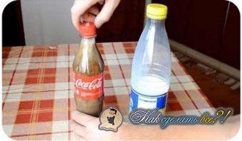 Кока-кола и молоко. Эксперимент.