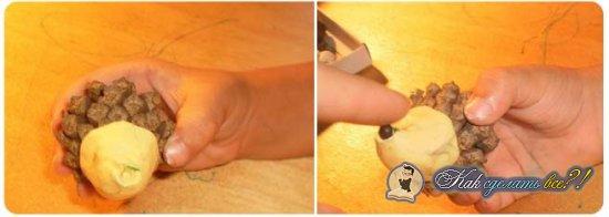 Как сделать ежика из шишек?