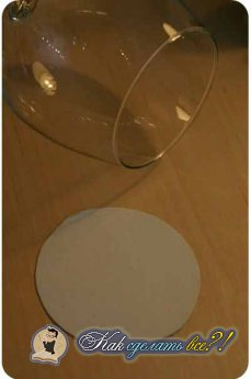 Как сделать подсвечник с бокала?