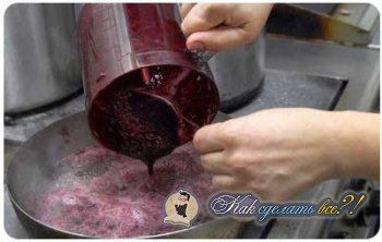 Как сделать черничный кисель?