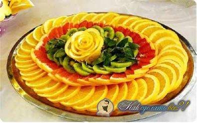 Как сделать нарезку из фруктов?