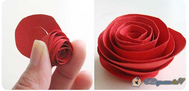 Как сделать быстро розу из бумаги