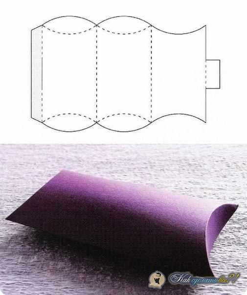 Как сделать квадратную коробочку из картона с крышкой 148