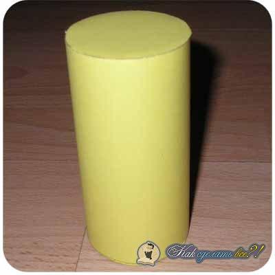Как сделать цилиндр из картона пошагово