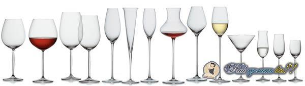 Какие бывают виды бокалов?