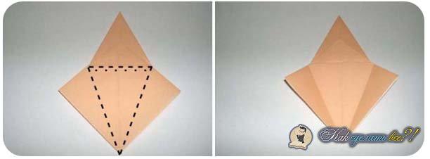 Как сделать из бумаги цаплю