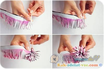 Как сделать цветы из бумаги своими руками 67
