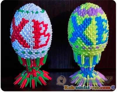 пасхальное яйцо оригами?