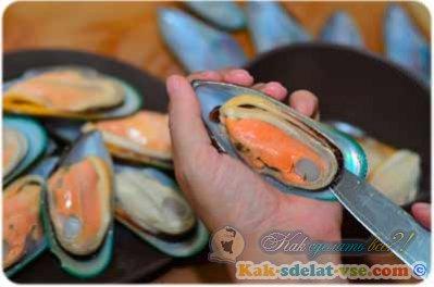 Как приготовить мидии в сливочном соусе?