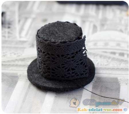 Как сделать шляпу для девочки 175