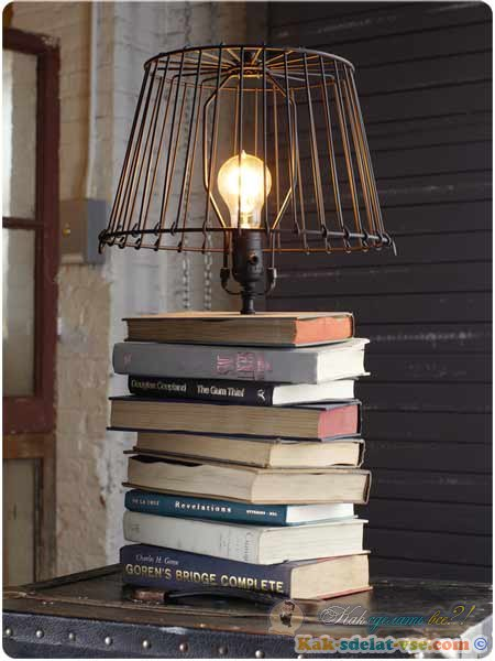 Как сделать настольный светильник в домашних условиях 536