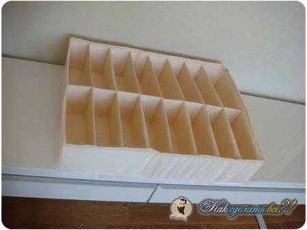 Как сделать органайзер для белья?