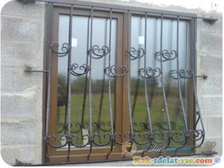Как сделать решетку на окна?